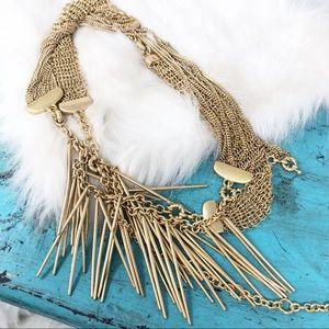 Cabi Riviera Convertible Gold Necklace Bracelet